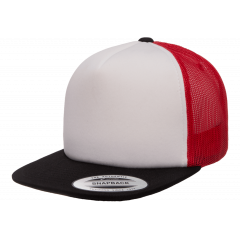 Кепка FlexFit 6005FW Trucker - Black/White/Red