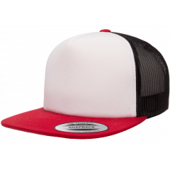 Кепка FlexFit 6005FW Trucker - Red/White/Black